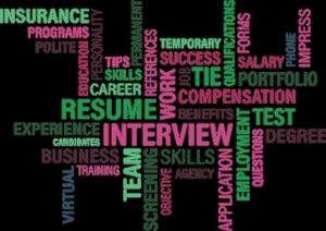 Resume, interview, compensation, benefits, experience...all terms much needed for moving job search NYC.