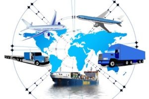 Different means of transportation when it comes to global transportation and logistics.