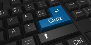 Give your readers the option to press Quiz just like you would Enter.