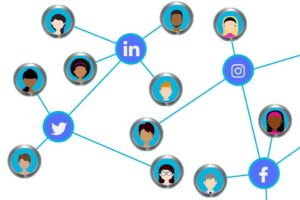 Social media connections on various platforms are important for the expansion of business.