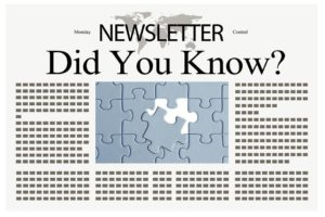 Newsletter - Did You Know that the title plays a key role in the success of a blog post?