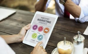 Inbound marketing strategy on a tablet - explore it and use it to achieve the most with your online presence.