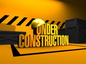 Under Construction sign - building your moving business takes time.