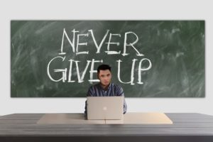 Never Give Up - a principle all company owners should live by.