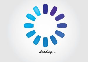 Page loading screen - speed is important among mobile device user trends.