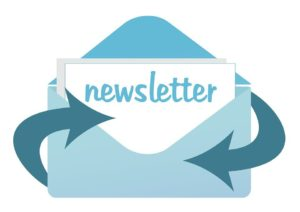 Blue newsletter icon
