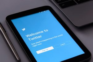 Twitter login page on a mobile phone.