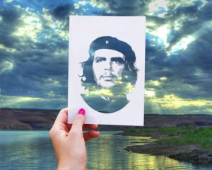 Promotional image of Che Guevara - the inspiration for guerrilla marketing tactics.