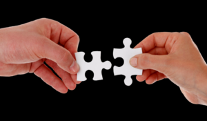 Like two pieces of a puzzle coming together - so must you and your business partners.
