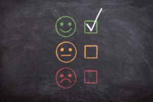One of the main focuses of reputation management SEO tactics is that positive review smiley face and checkmark.