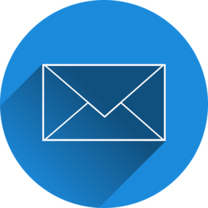 Blue email icon - always trending among marketing channels for promoting your business.