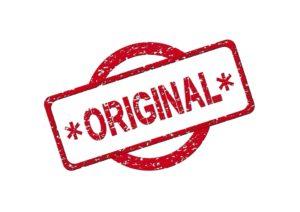 'Original' stamp