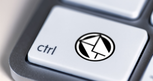 Email icon on Ctrl button on keyboard.