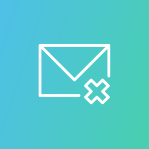 Email icon with X