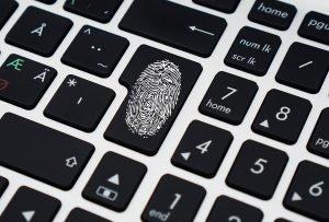 Fingerprint on Enter button on keyboard
