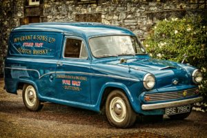 Picture of oldtimer truck for a Whiskey Company.