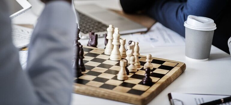 Business is like playing chess - you need to think ahead.