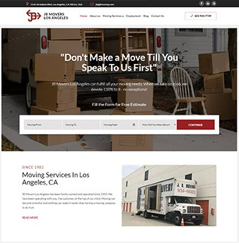 Logo for JB Movers Los Angeles