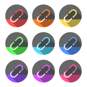 Different-colored links