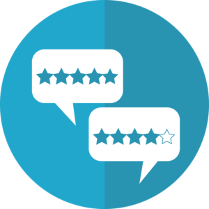 Rating cloud icons with starts