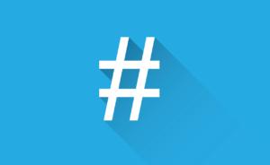 Social media tag icon