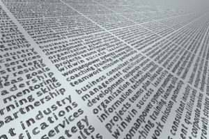 Different keyword revolving around business, development, information etc.