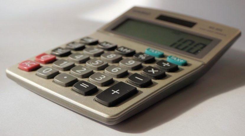 Calculator on a table