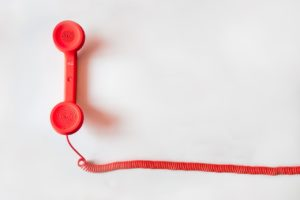 a phone handset on a white background