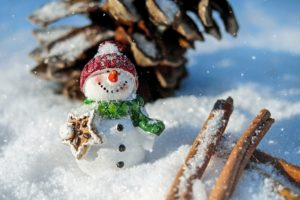 A snowman, made in time for the most popular one among the most profitable holidays for movers to focus on.