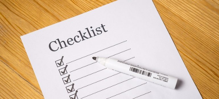 Make a checklist or online spreadsheet for the modern moving process