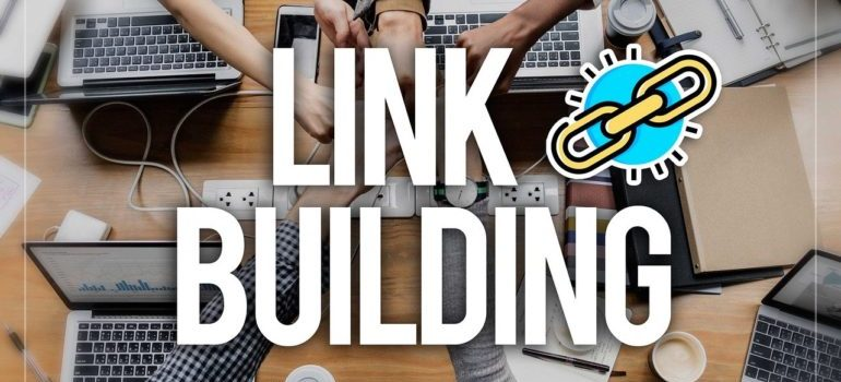 link building, representing link bait