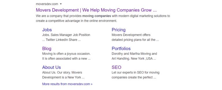 Movers Development metadata