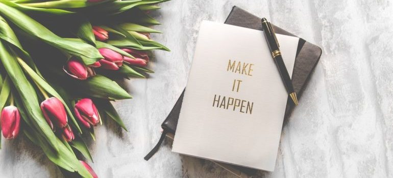 Planner with Make It Happen written over it