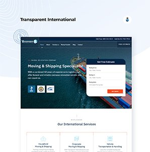 Logo for Transparent International Movers