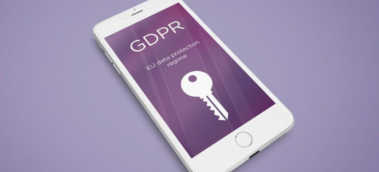 Phone with GDPR screen