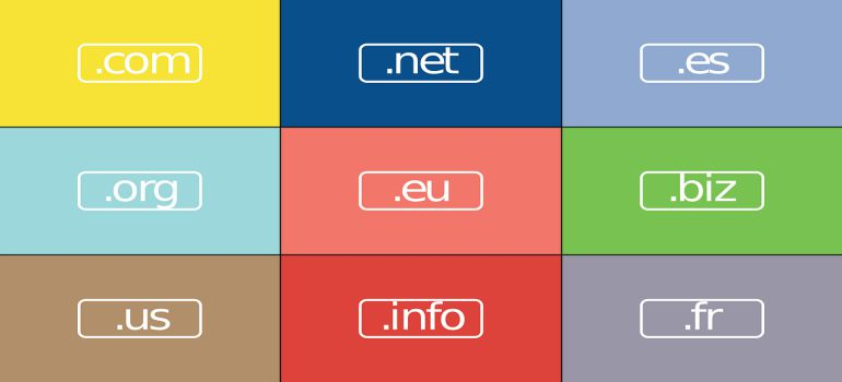 A chart with different online domains.