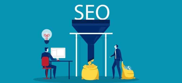 Illustration of converting SEO into profit