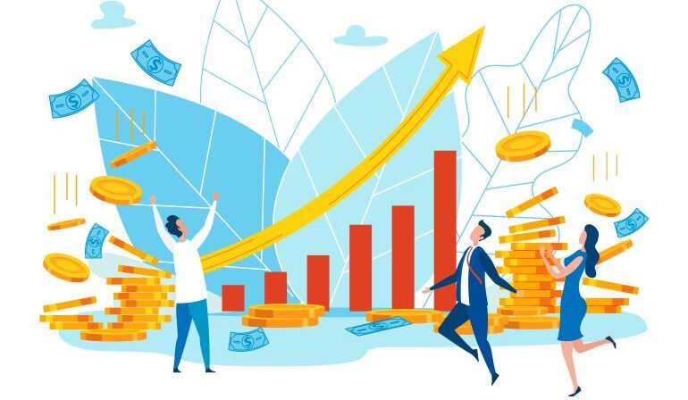 Business growth and profit illustration