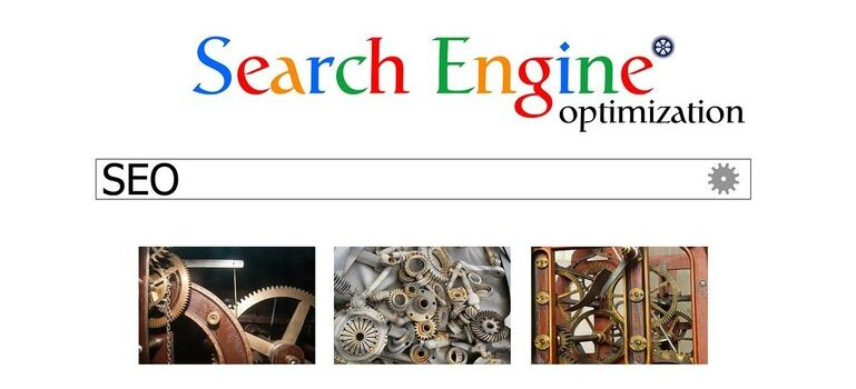Search engine optimization, letters SEO in the search bar