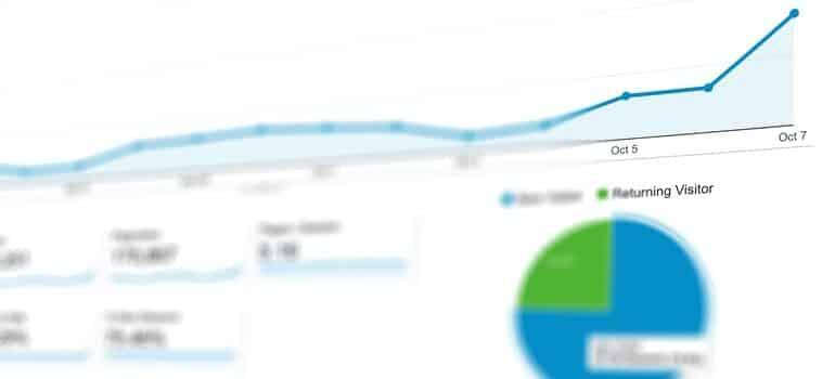 Google analytics page.