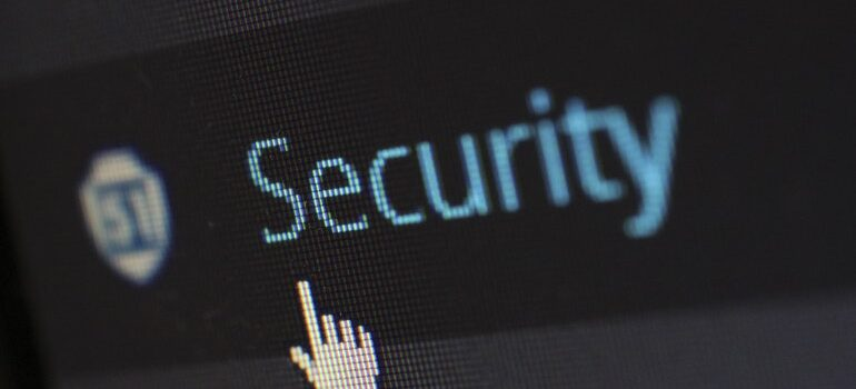 Security section on a WordPress website.