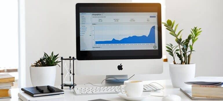 Google Analytics on a computer screen.