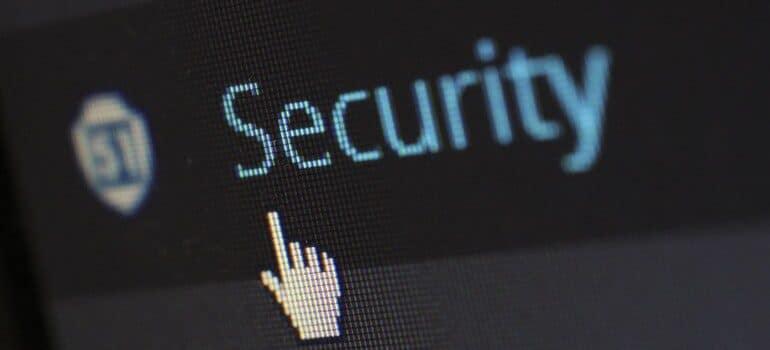 "WordPress tab labeled ""security""."