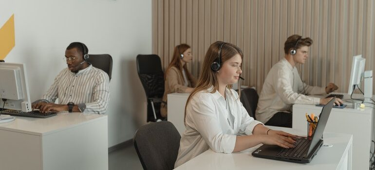 Call center office.