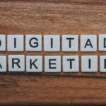 Digital marketing written on a table.