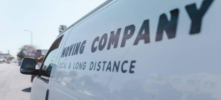 a moving company van